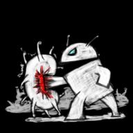 机器人与病毒图标