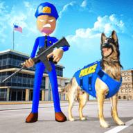 火柴人警犬模拟器图标