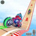 机器人摩托车特技图标