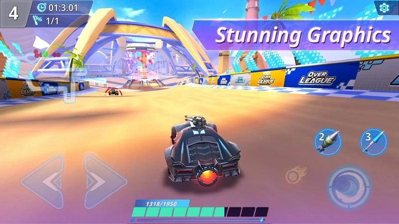 超级联赛卡丁车对抗无限技能版游戏截图