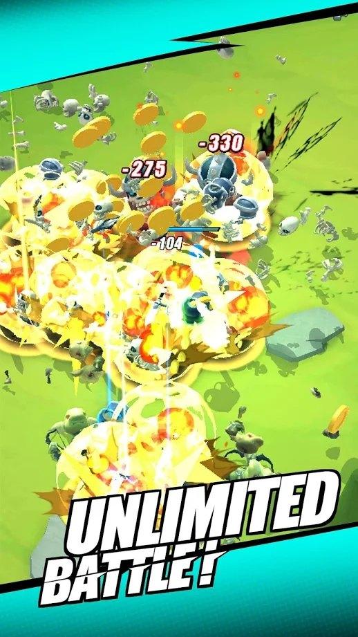 小战士击败他们破解版游戏截图