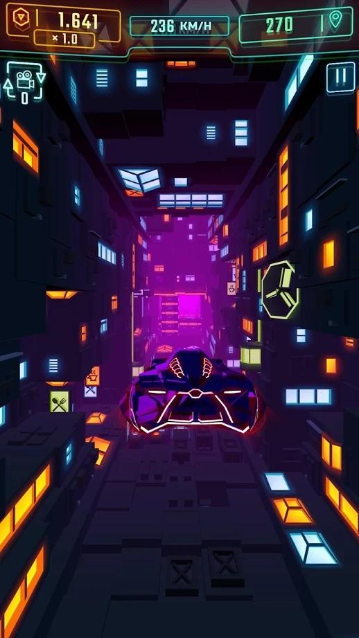 霓虹飞车无限金币版游戏截图