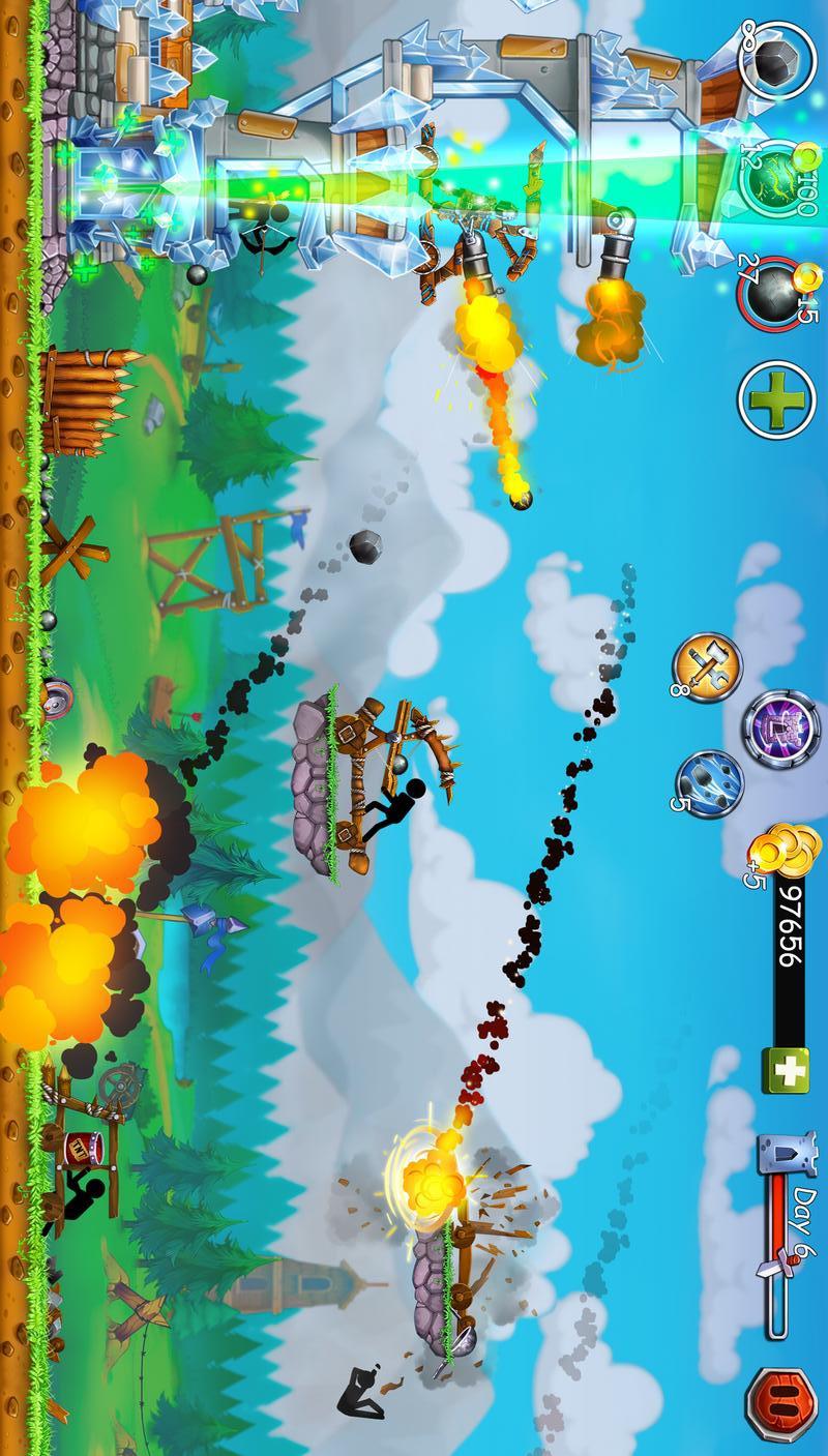 火柴人之守卫城堡2新的战役最新破解版游戏截图