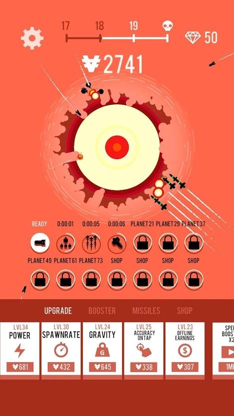 星球轰炸机破解版游戏截图