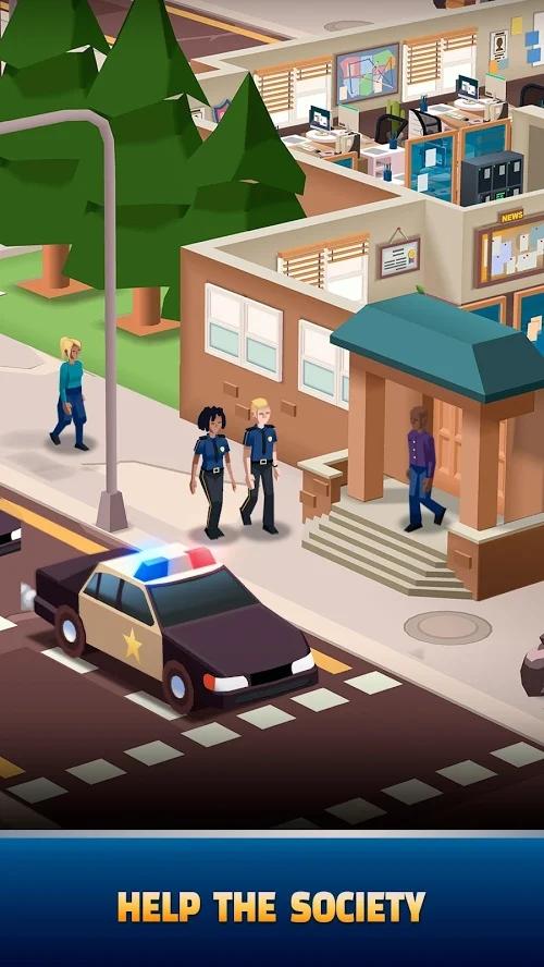 放置警察大亨无限钻石破解版游戏截图