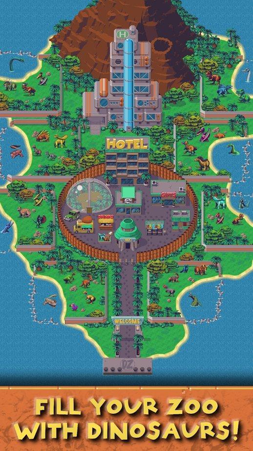 闲置恐龙动物园破解版游戏截图