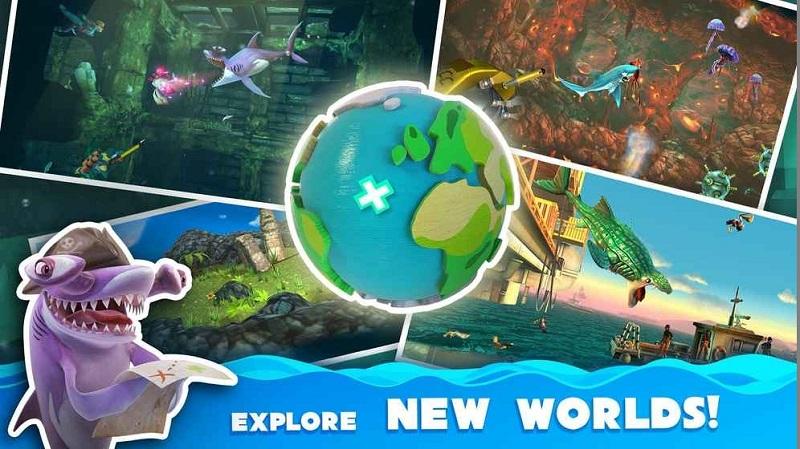 饥饿的鲨鱼世界破解版游戏截图