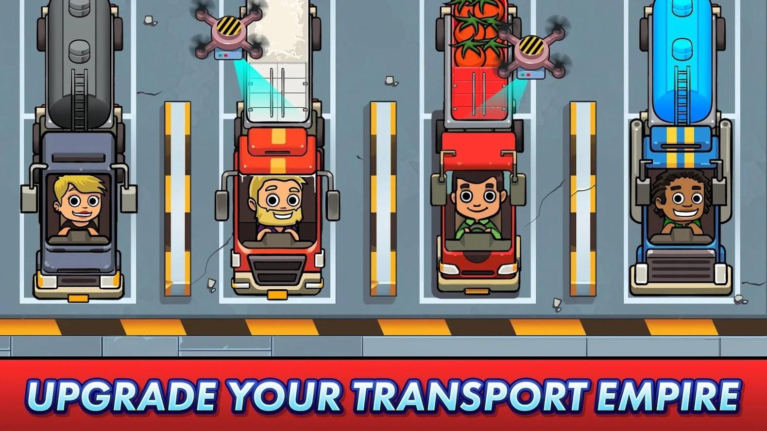 放置运输大亨破解版无限钻石金币游戏截图