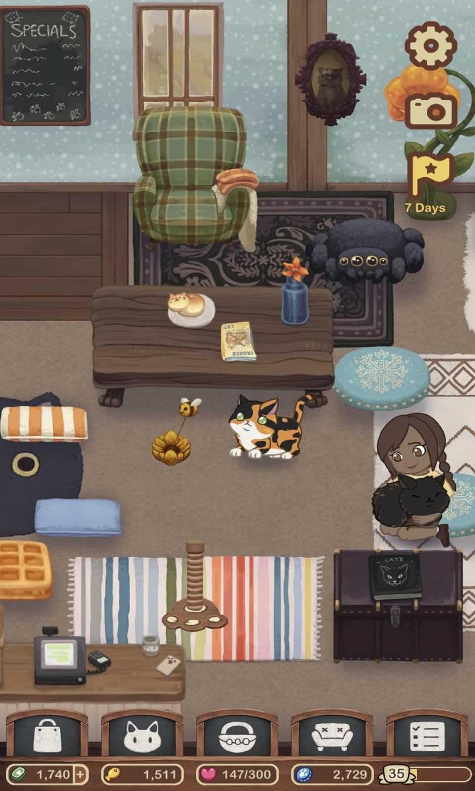 绒毛猫咖啡厅无限金币版游戏截图