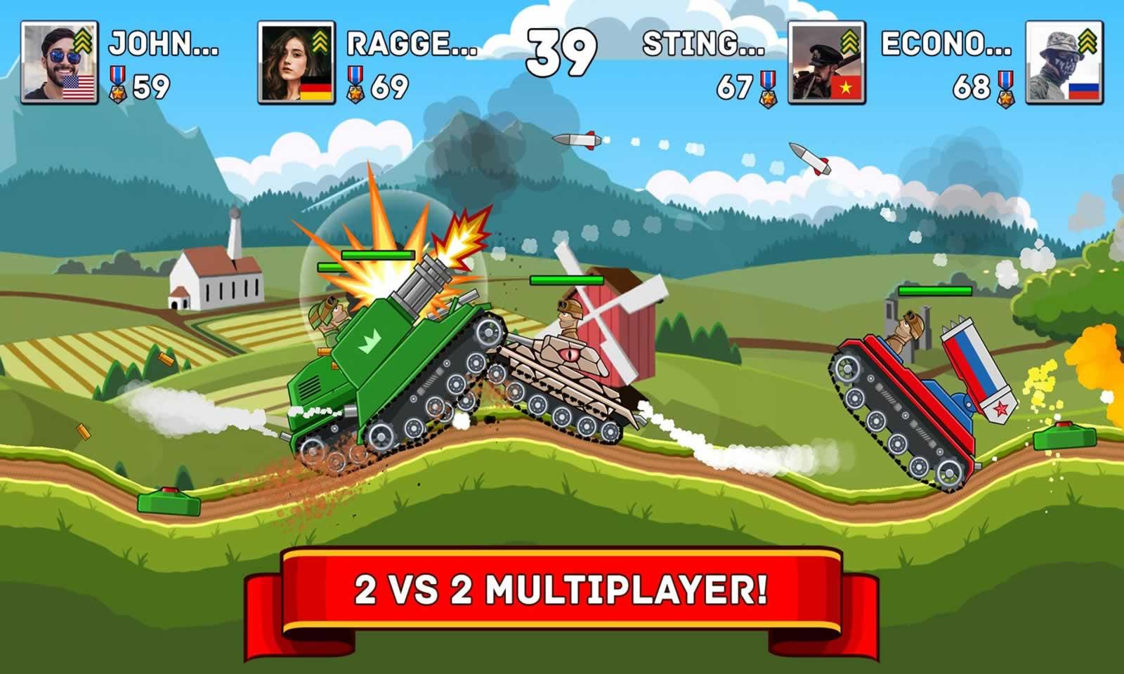 山地坦克大战无限金币版游戏截图