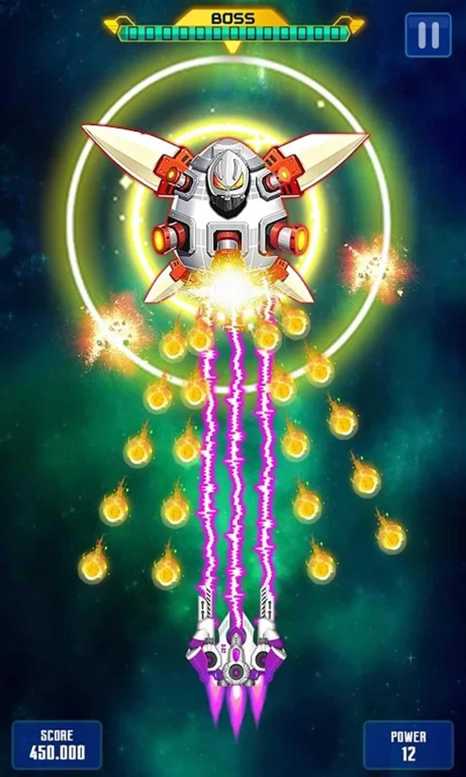 银河之战深空射手无限金币版游戏截图