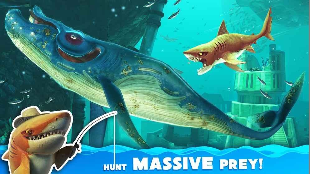 饥饿鲨世界2020破解版灾难鲨游戏截图