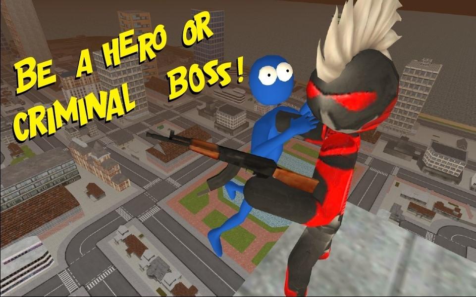火柴人绳索英雄汉化版破解版游戏截图
