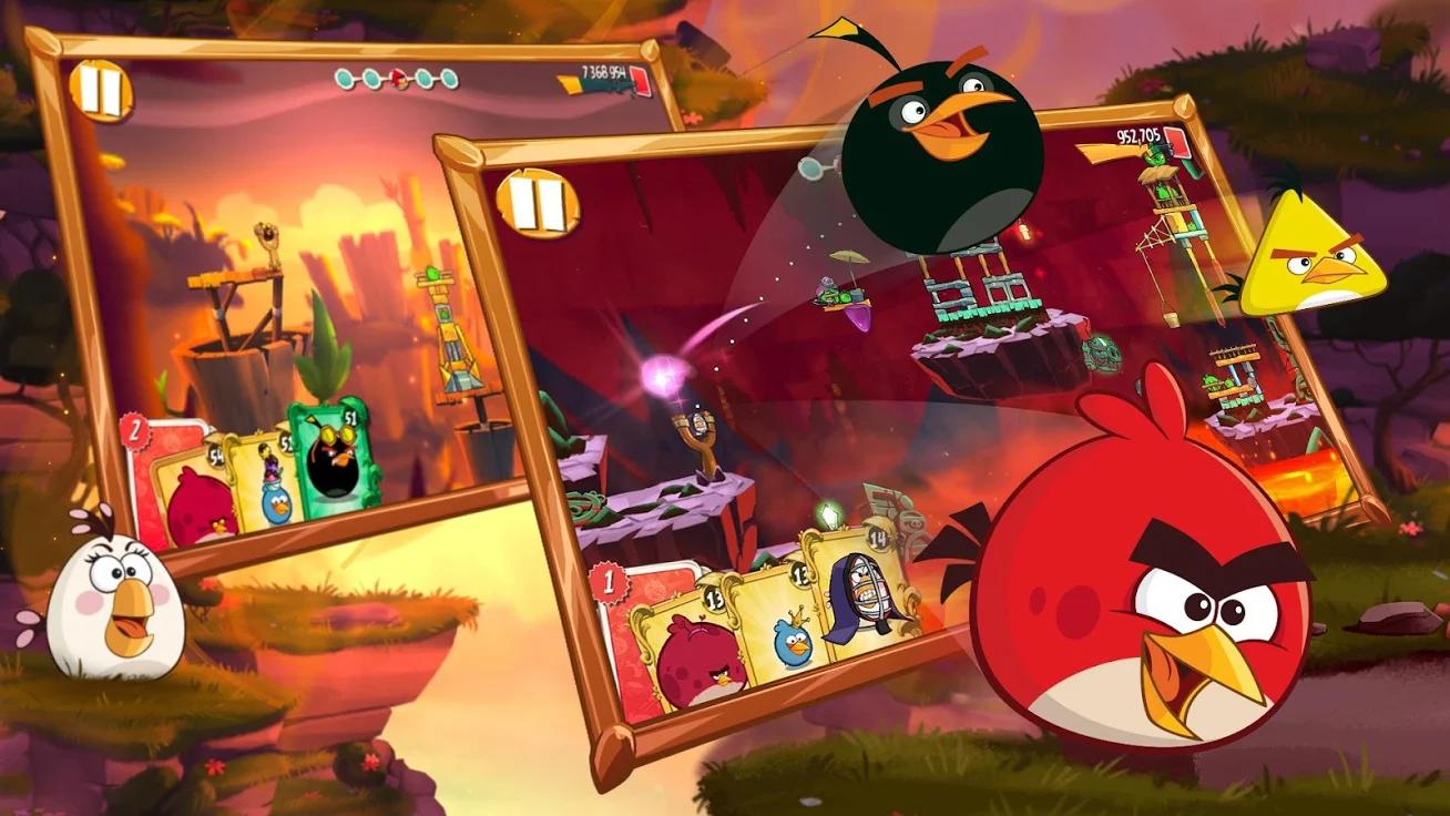 愤怒的小鸟2无限道具无限宝石破解版游戏截图