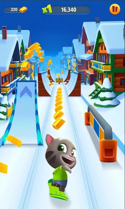 汤姆猫跑酷破解版无限金币和钻石鞭炮版游戏截图