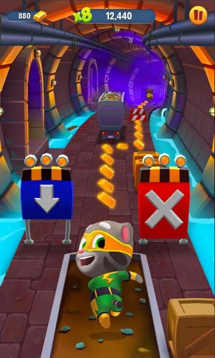 汤姆猫跑酷破解版无限金币和钻石和角色版游戏截图
