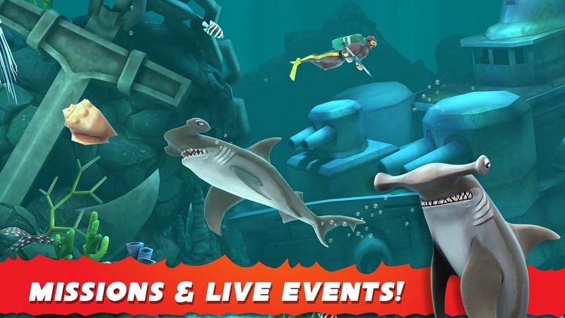 饥饿鲨鱼世界无限钻石版游戏截图