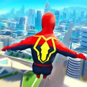 超级英雄飞行图标