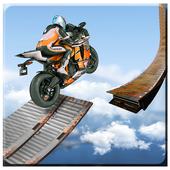 3D摩托车特技图标
