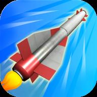 爆炸火箭3D图标
