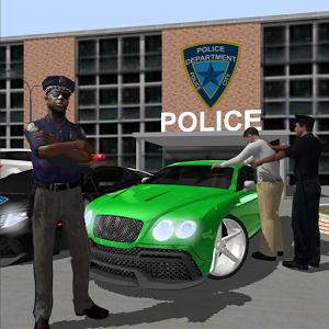 警车与街头赛车手图标