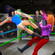 女子摔跤图标