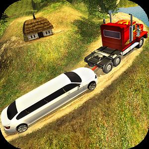 重型拖拉机拉VS拖车运输车图标