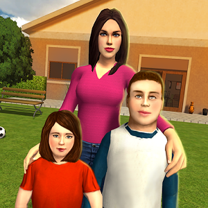 虚拟妈妈:幸福的家庭3D图标