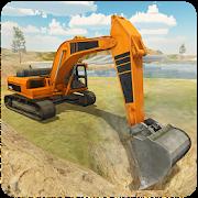 重型机械挖掘机图标