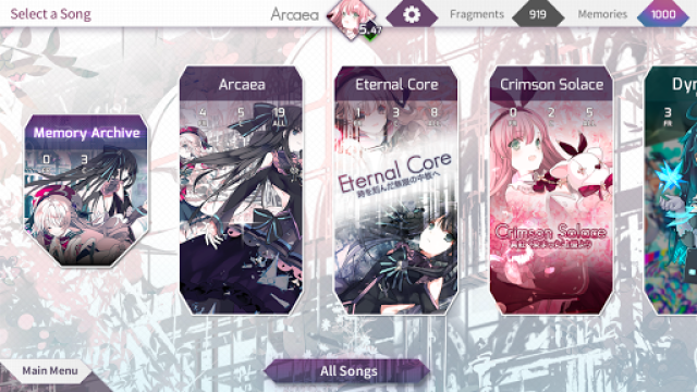 Arcaea游戏截图